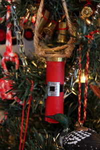 Shotgun Shell Santa Suit Ornament