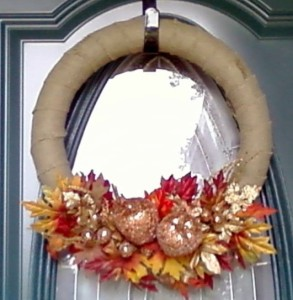 Fall Burlap and Bling Wreath
