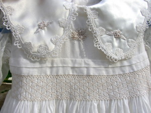 Hand-Smocked Brazilian Embroidered Blessing Gown