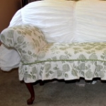 Hand-Stamped Bench Slipcover