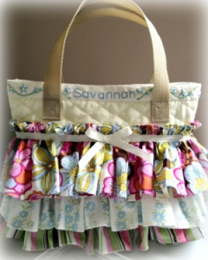 Ruffled Scripture Bag - Savannah