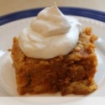 Pumpkin Bars with Fresh Whipped Cream