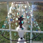 Beaded Milk Glass Lamp Shade