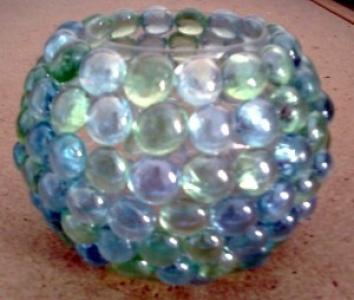 Glass Marble Candle