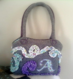 Appliqued Scripture Bag