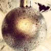 Faux Mercury Glass Ornament