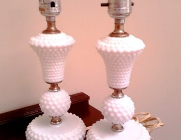 Hobnail Milk Glass Lamps, Part 1