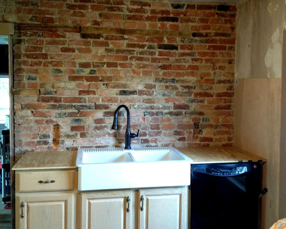 Kitchen Renovation – Progress – Sink Wall
