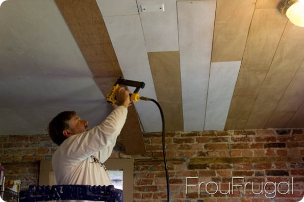 Attaching Ceiling Planks