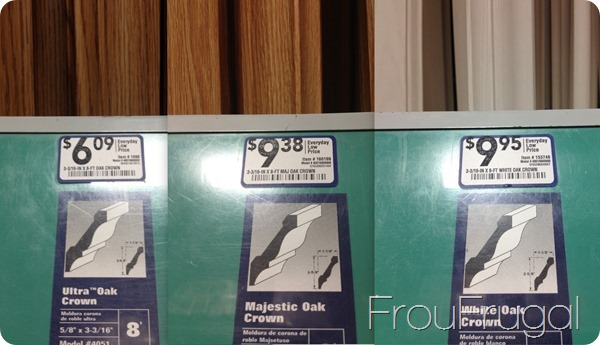 Lowes Molding Price Difference