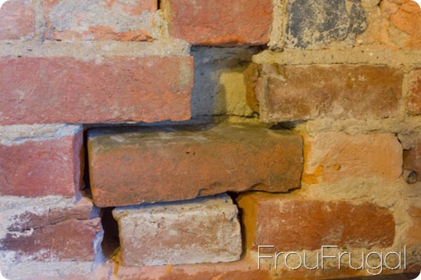 Partial Dry Fit of Bricks in Brick Wall
