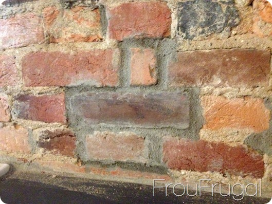 Replaced Brick with Dried Mortar