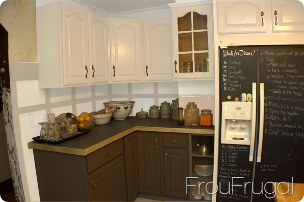 Kitchen Cabinets, Penny Tile Floors and Painted Kitchen Cabinets