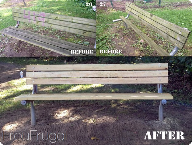 Benches Before and After - Eagle Project