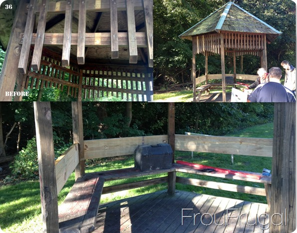 Gazebo Before and After - Eagle Project