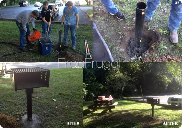 Grill Before and After Eagle Project