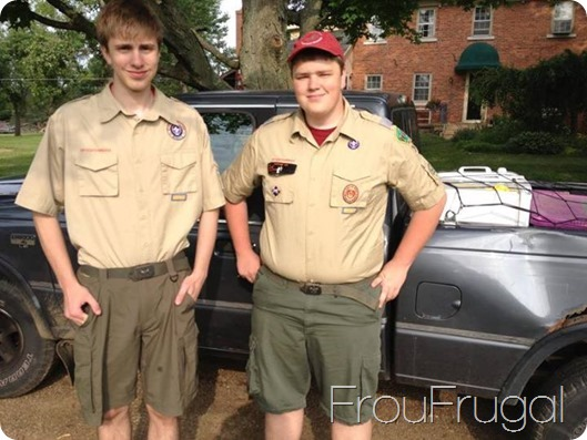 Sam and Noah in Scout Uniforms