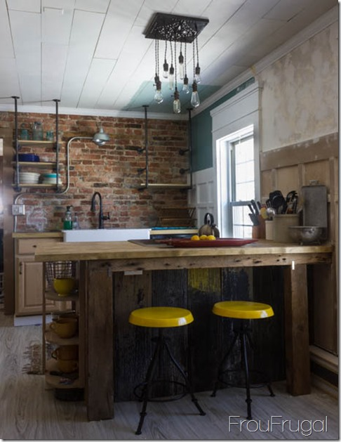 Kitchen Update with Spray Painted Stools