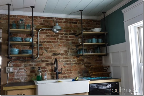 Kitchen Progress - Industrial Shelves