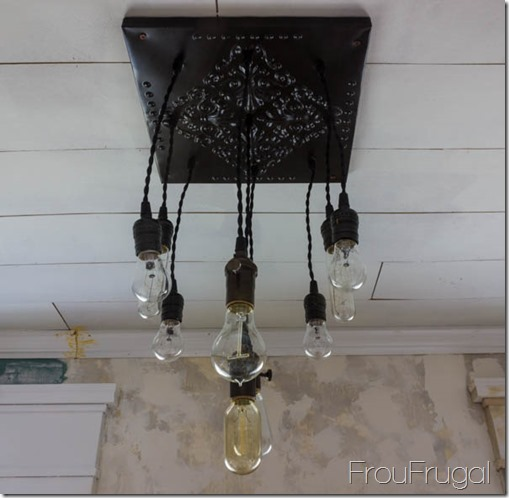 how to make edison bulb chandelier