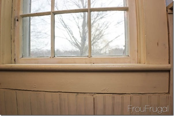 Dining Room Window Sill