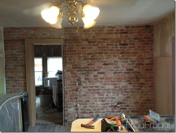 Kitchen - Exposed Brick Wall