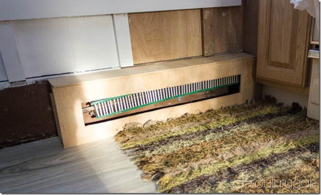 Kitchen Update - Heater Surround