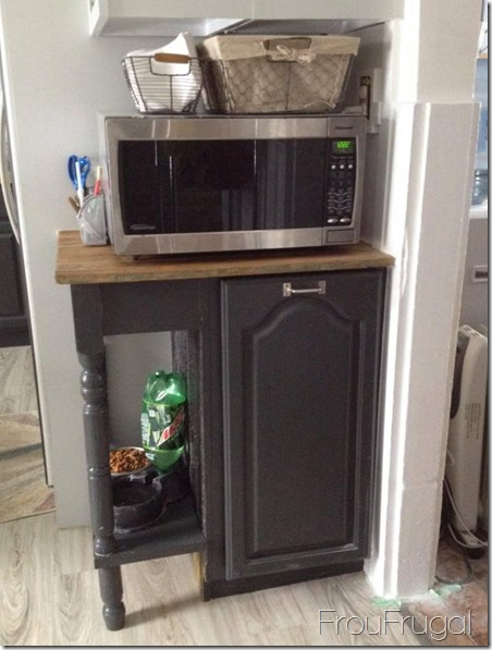Microwave Stand built in Garbage Can