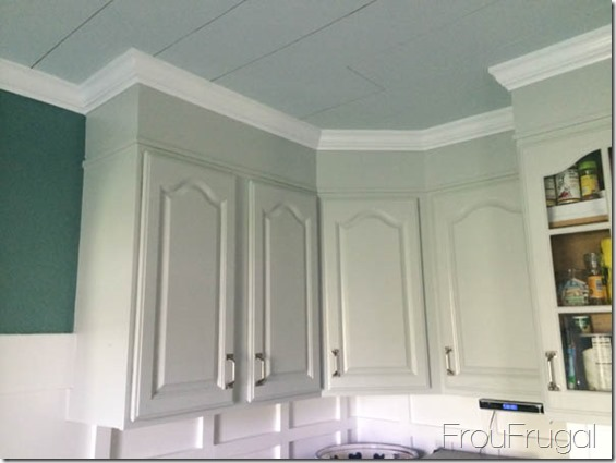Upper Cabinets Painted in Sherwin Williams Passive