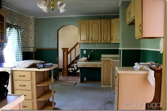 Kitchen Before - Stair Wall