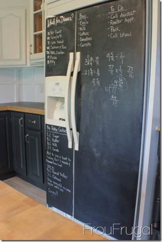 Kitchen Remodel - DIY Chalkboard Fridge