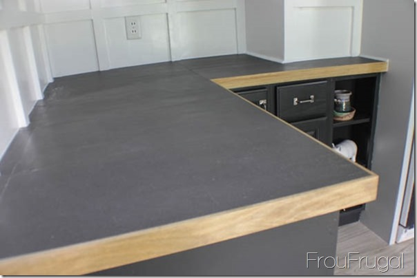 Kitchen Remodel - DIY Porcelain Tile Countertops