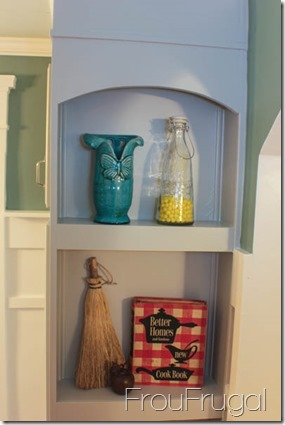 Kitchen Remodel - Open Pantry Shelves Top View