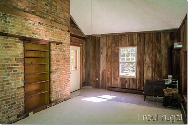 Family Room - Exposed Brick Wall