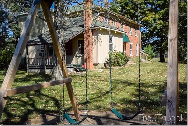 Swing Set and House