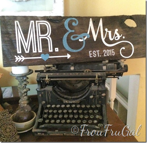 Barn Wood Mr and Mrs Sign
