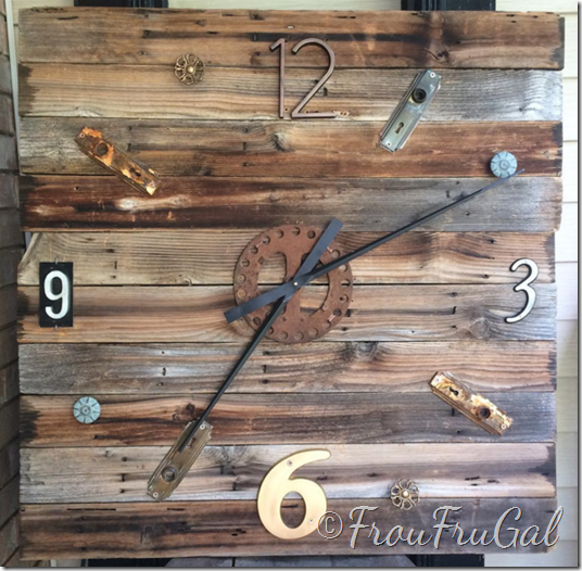Fence Board Junk Clock