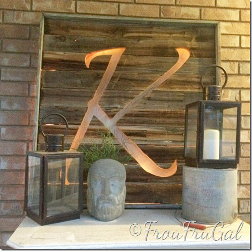 Fence Board Lighted Monogram Sign